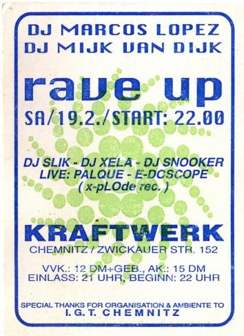 Raveparty Ticket 1994