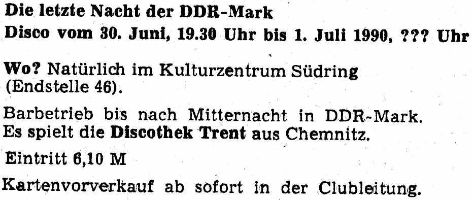 letzte DDR Disco