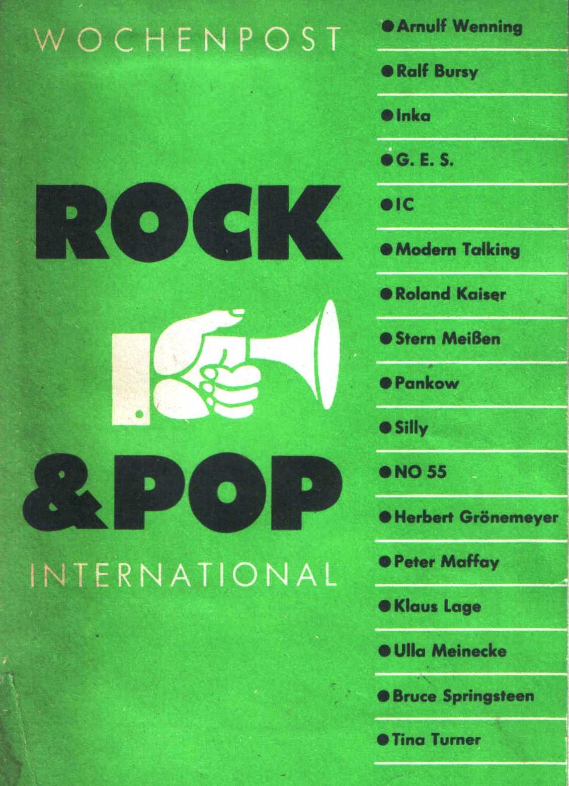 Wochenpost, Rock und Pop